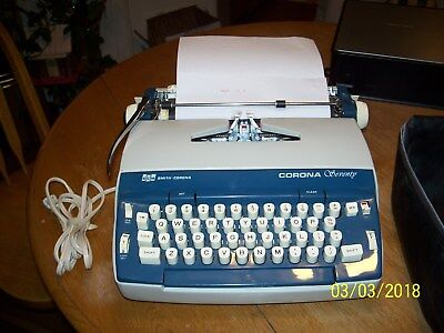 Nice Vintage Smith Corona Typewriter Seventy Portable Electric