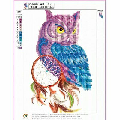 Dream Catcher Owl DIY Diamond Cross Painting Stitch 5D Embroidery Picture DB