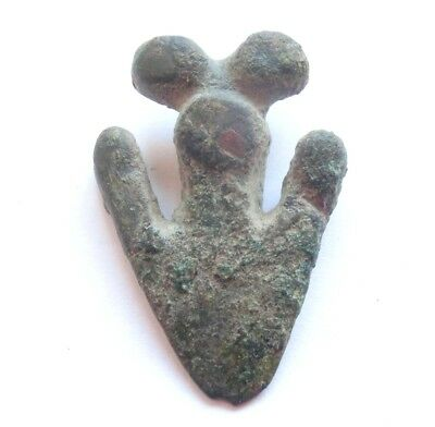 Scarce Ancient CELTIC - Hallstatt Culture Bronze ARROWHEAD Amulet / Talisman