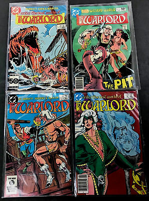 DC The Warlord The Lost World Of Lot of 4 Vintage 1980s 1980-85 No. 41 81 87 94