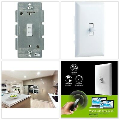 Smart Lighting Control Toggle Switch In-Wall Wireless Programmable Z-Wave Plus