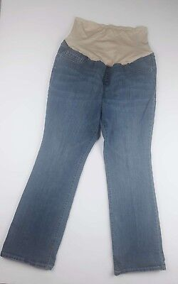 Old Navy Womens Maternity 16 Reg Full Panel Medium Wash Jeans Blue Stretch