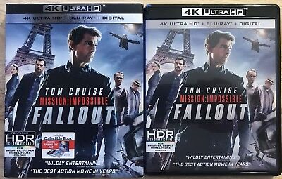 Mission: Impossible Fallout 4K Ultra Hd + Blu Ray 3 Disc Set With Slipcover