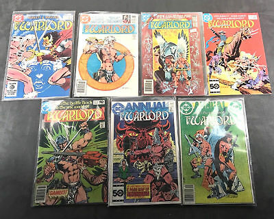 DC the Warlord Lot of 7 Comics Most in Sleeves 1980-1985 Vintage Books