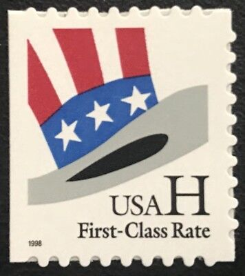 "1998 Scott #3267 - (33¢) - ""H"" & HAT - Single Booklet Stamp - Mint NH"