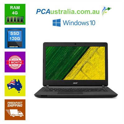 Acer 14'' Intel Pentium Quad Notebook Laptop 4GB 120GB SSD Wi-Fi windows 10