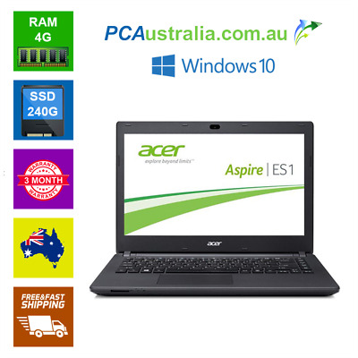Acer  14'' Intel Pentium Quote  Notebook Laptop 4GB Ram 240GB SSD Wi-Fi Win10