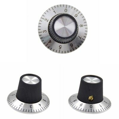 Potentiometer Metal Knob Scale with Dial for 6mm Shaft Rotary Cap 0-9 Scale 10Pc