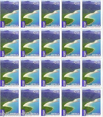NEW Sheet of 20 x $2.20 = 10% OFF, Discount Bulk Australian Postage Stamps