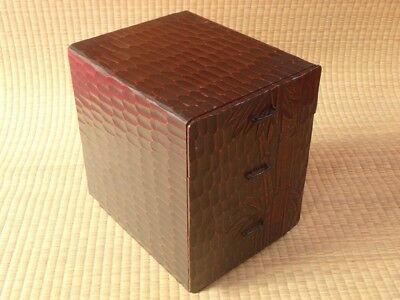 Wooden Box / Accessory case / 3 drawer / Bamboo design / Japanese Vintage / t48