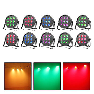 10 Pack LED Par Can Light 9LED RGBW DMX512 DJ Stage Lighting Wedding Event Party