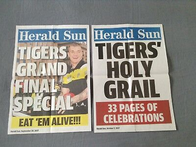 2017 AFL Grand Final Herald Sun Richmond Tigers Newsstand Posters