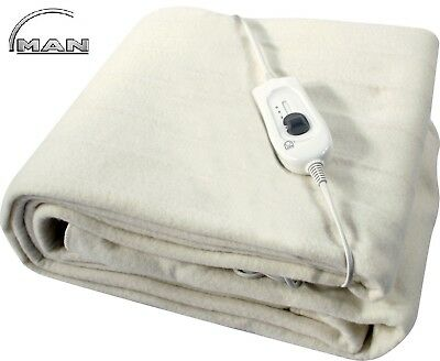 King / Double /single Size Electric Blanket Under Bed Warm Night Washable Heated
