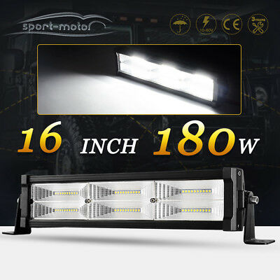 13Inch LED Work Light Bar Flood Backup Offroad SUV Truck Jeep 4X4WD Driving 16''