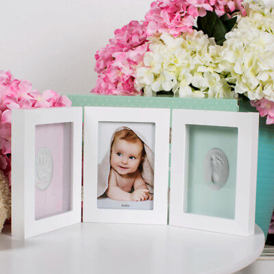 Babyprints Deluxe Desk Frame Wall Frame Baby Photo Frame Handprint Keepsake