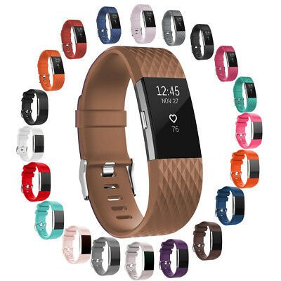 1/3/4/10 Pack FOR Fitbit CHARGE 2 Replacement Silicone Band Strap Bracelet lot