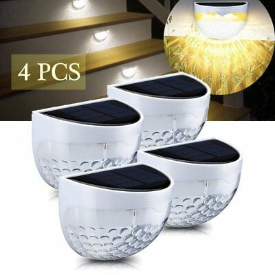 6 LED Solar Powered Waterproof Fence Wall Light Outdoor Garden Security Lamps