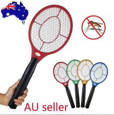1/2x Electric Bug Zapper Racket Fly Swatter Mosquito Killer Insects Bat Handheld
