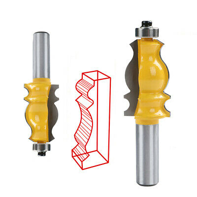 """1/2"""" Shank Alloy Fishtail Handrail Router Bit Woodwork Trimming Milling Cutter"""