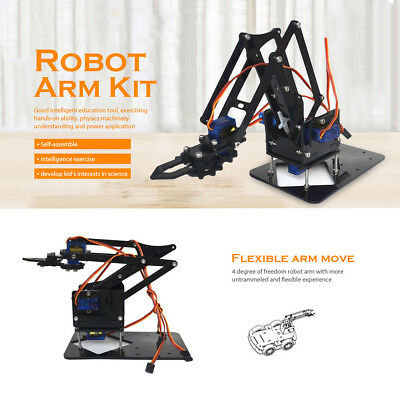 Manual Robot Arm Kit Educational DIY Assembled Robotic Claw Set Toy with Screws
