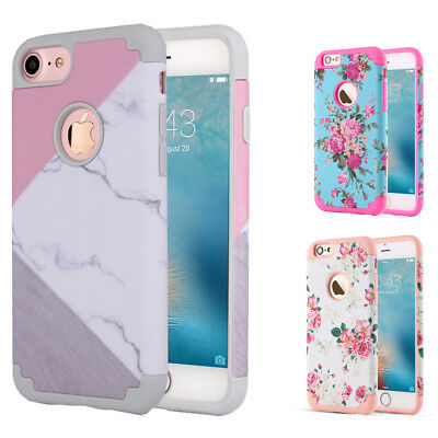 iPhone XS MAX 8 7 Plus Case Hybrid Hard Heavy Duty Shockproof Rubber Armor Cover