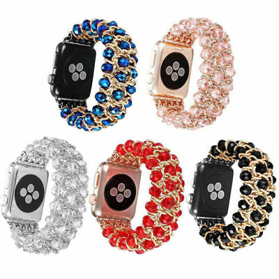 For Apple Watch Series 4 3 2 1 Bling Pearl Beads Strap Bracelet Band 38mm-44mm