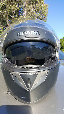 Shark S700  Matt Black Helmet  Large Size 60
