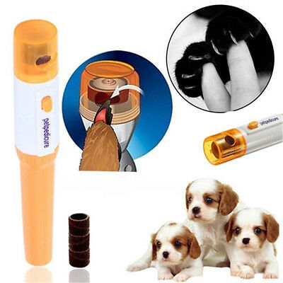 Pet Nail Clipper Painless Dogs Cats Paw Nail Trimmer Cut Electric Grinding