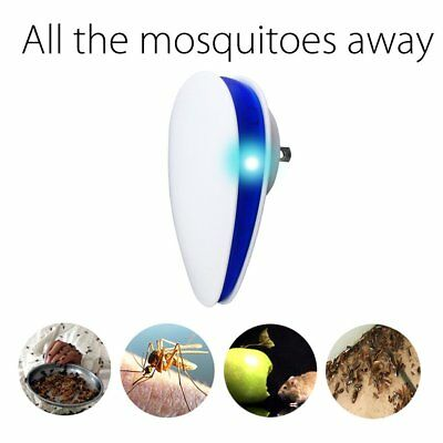 Ultrasonic Anti-Mosquito Device With Breathing Lamp Wall Plug Type Pest Reject@D