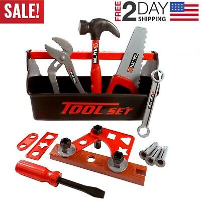 Toddler Boy Toy Tool Box Construction Pretend Play Girl Kids Drill Learning Game