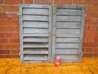 VINTAGE WOODEN SHUTTERS WINDOW 73Tx80cm  ANTIQUE FRENCH  RECLAIMED   Free post