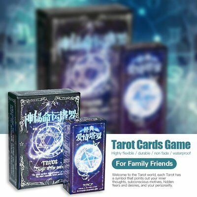 Tarot Cards Game Family Friends Outdoor Read Mythic Fate Divination Table N5