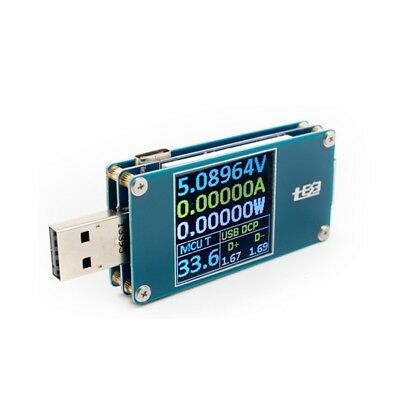 Type-C LCD Color Display Digital USB Tester Voltmeter Ammeter Quick Charge Test-