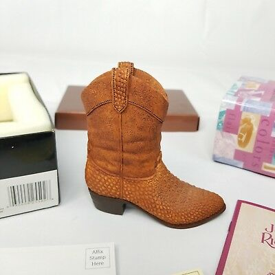 Just The Right Shoe By Raine, Willitts Cowboy Boot COA Box 25502 Vintage