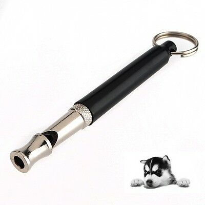 Pet Dog Training Obedience Whistle UltraSonic Supersonic Sound Pitch Black New