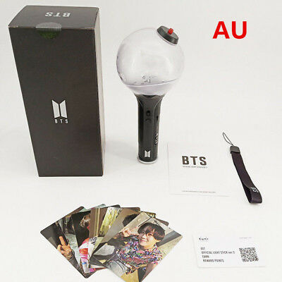 AU KPOP BTS Light Stick Ver.3 ARMY Bomb Bangtan Boys Concert Lamp Lightstick New