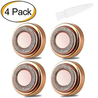 4X Replacement Heads for Finishing Touch Flawless Hair Remover Brand New Sealed