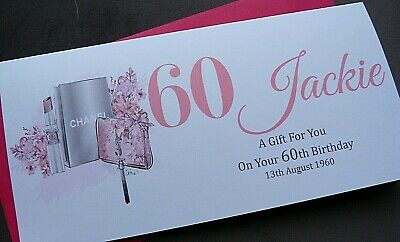Personalised Handmade Birthday Money- Voucher- Gift Wallet Card With Envelope