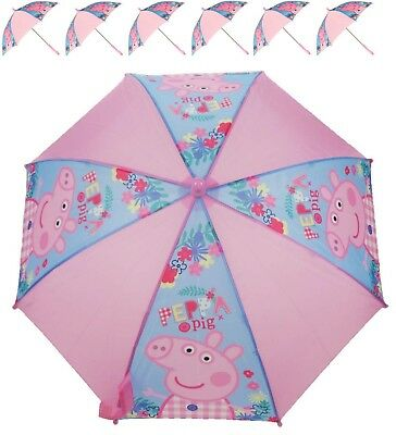 Nickelodeon Peppa Pig George Girls Rain Umbrella Kids School Panel Brolly Gift
