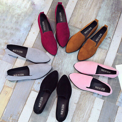 AU Women Ladies Slip On Flat Sandals Casual Shoes Solid Fashion Loafer
