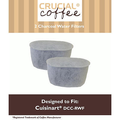 Crucial Coffee Cuisinart DCC-RWF Charcoal Water Filters 2 pack
