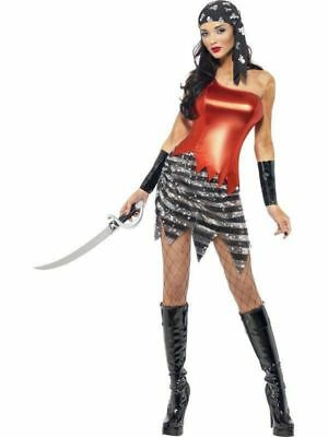 Ladies Captain Shipmate Buccaneer PIRATE Adult Womens Fancy Dress Costume Xsmall