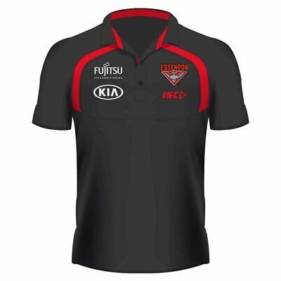 Essendon Bombers 2018 Afl Adults Performance Polo Shirt Bnwt Size' S- 5Xl