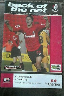 AFC Bournemouth v Cardiff City 26th October 2004
