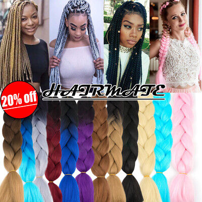 Real Jumbo Braiding Hair Extension Ombre Kanekalon Twist Braids Any Colors HM24