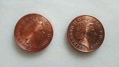 Double Sided Coin, Two Pence. Heads 2p. Headed
