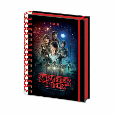 Stranger Things Characters A5 Hardback Notebook Pad Lined Barb Upside Down 11
