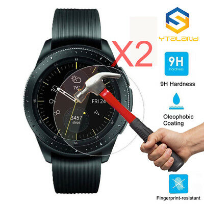 2Pcs 9H Tempered Glass Film Screen Protector For Samsung Galaxy Watch 42mm 46mm