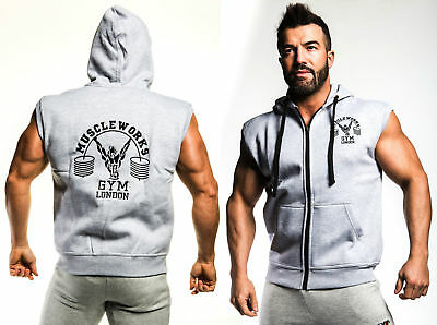 Muscle Gym Hoodie Top UK Bodybuilding Top | Gym Clothing Vest Workout Training