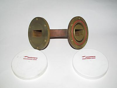 Andrew Microwave Waveguide 90° Brass Elbow Waveform Rf Part